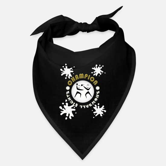 Snowflake Caps - winter - Bandana black