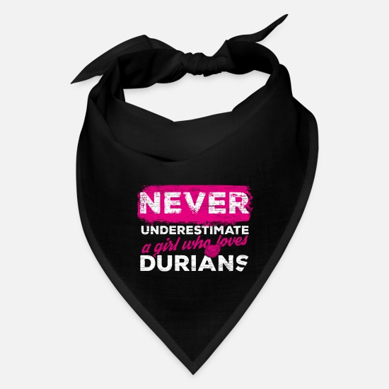 Durian Caps - Durians vegan Asian Fruit - Bandana black