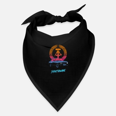 GDR German Synthwave Retrowave Aesthetic Vintage - Bandana