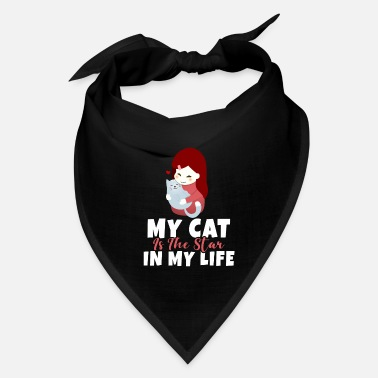 Abyssinian Star cute Cat heart kitten lovely love life - Bandana