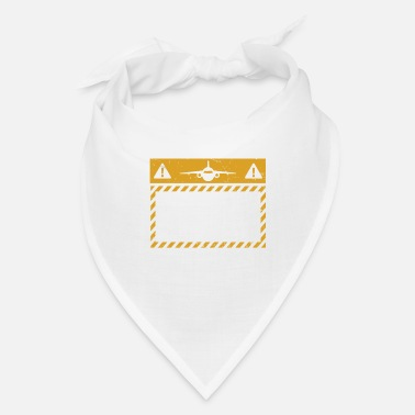 Evening Funny Aviation Gift - Caution Student Pilot - Bandana