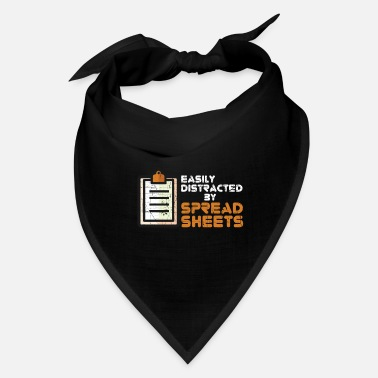 Love Easily Distracted By Spreadsheet - Bandana