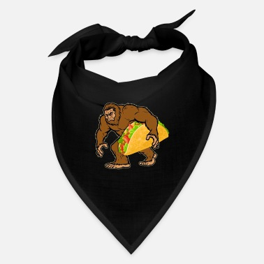 Bigfoot Thanksgiving Day Bigfoot Carrying Taco T shirt Men Cinco de Mayo - Bandana