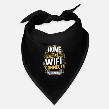 top hand drawn lettering home is where wifi - Bandana