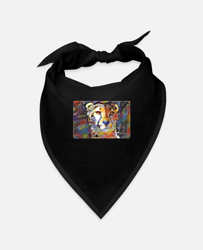 Art Bandanas - Cheepard kitten, cat mom gifts, funny sayings - Bandana black