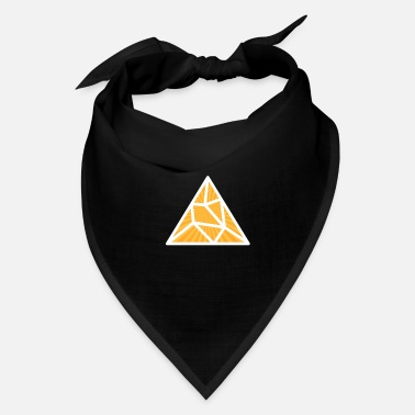 Triangle White Yellow Splitted Triangle - Bandana