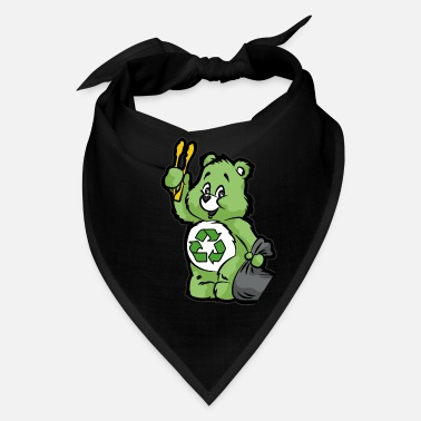 Enviromental TEDDY BEAR RECYCLE RECYCLING TRASH ENVIROMENTAL - Bandana