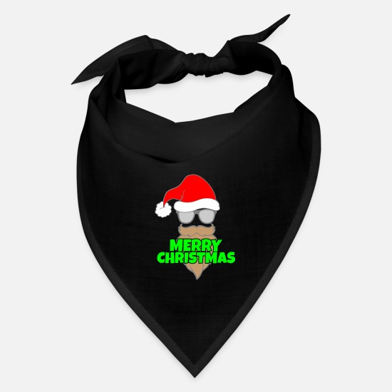 Gift Idea Caps - Merry christmas X-mas Santa Claus winter gift idea - Bandana black