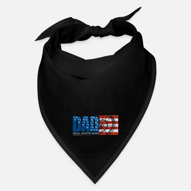 Darts Coach Darts Dad US Flag Gift Darts Player Darts Board - Bandana