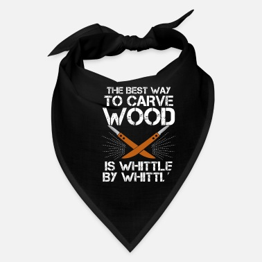 Woodcarver Funny Wood Carving Whittling Carpenter Gift - Bandana