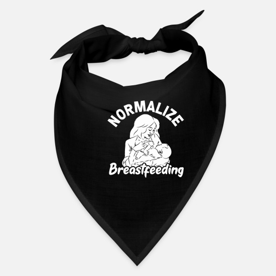 Nurse Caps - Normalize Breastfeeding Pro Life Activist Awarenes - Bandana black
