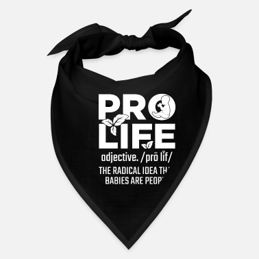 Save Pro Life Support Baby Anti Abortion Human Rights - Bandana