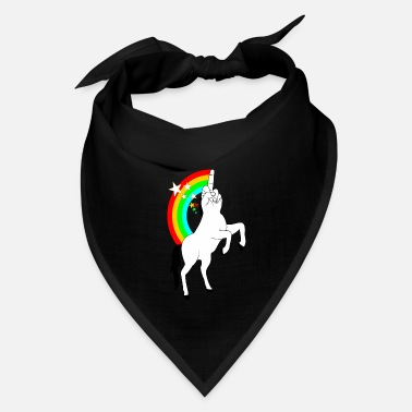 Finger Middle Finger Stinky Finger Gift Unicorn Rebel fun - Bandana