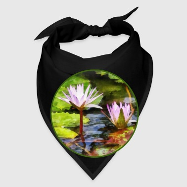 Two Purple Water Lotus - Bandana