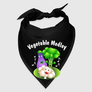 White Vegetable Medley - Bandana