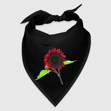 Cherry and Chocolate Sunflower - Bandana