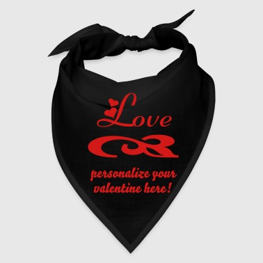 love with hearts for valentines - Bandana