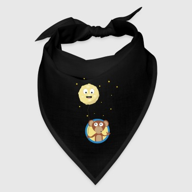 Monkey with friendly moon on a rope Gift - Bandana