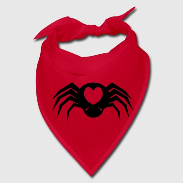 I heart Spiders with many eyes and love hearts - Bandana