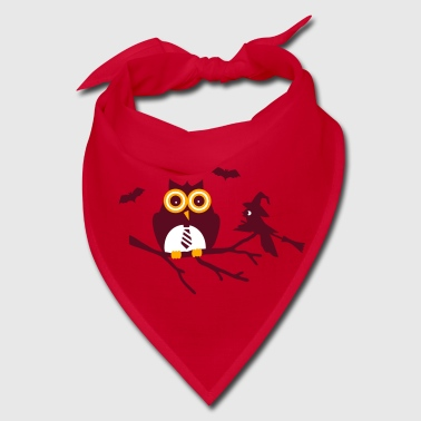 owl and bird sitting on a branch - Bandana