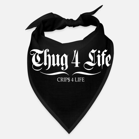 thug 4 life crips 4 life Bandana - black