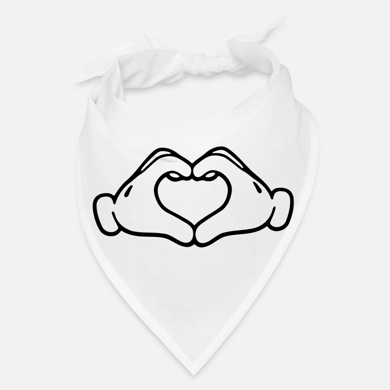 Mickey Hand Caps - Mickey LOVE hands - Bandana white