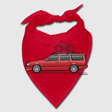 Volvo 850 855 Red Wagon With BMX Bike - Bandana