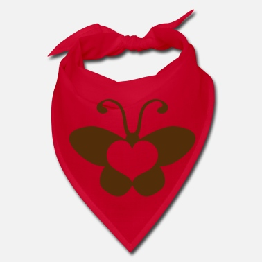 Beautiful butterfly shape with a beautiful love heart - Bandana