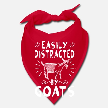 Meadow Easily distracted by goats - fun goaty gift - Bandana
