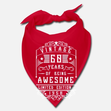 Year Of Birth 60 Years of being awesome Limited Edition 1958 - Bandana