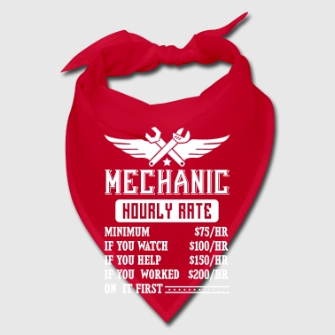 Mechanic Hourly Rate - fun car repair - Bandana