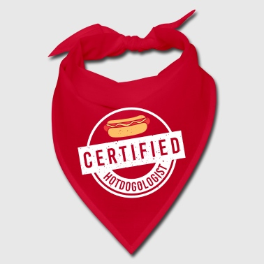 Certified Hotdogologist - fun food - Bandana