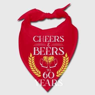 CHEERS & BEERS TO 60 YEARS birthday party - Bandana