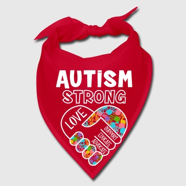 Autism strong love support educate advocate - Bandana