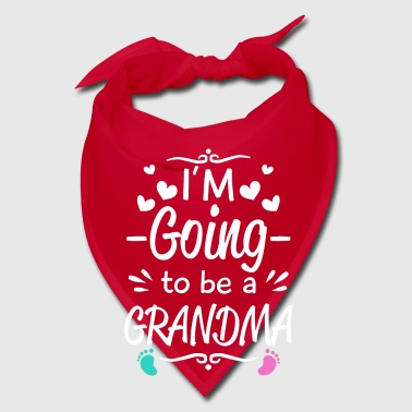 I'm going to be Grandma - baby birth announcement - Bandana