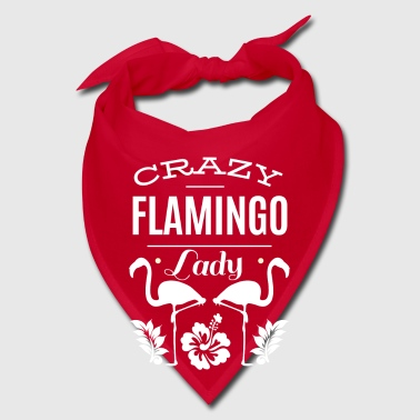 Crazy Flamingo Lady - bird animal fan - Bandana