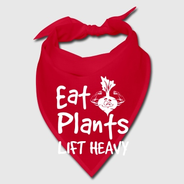 Eat Plants Lift Heavy - fun gym muscle gift - Bandana