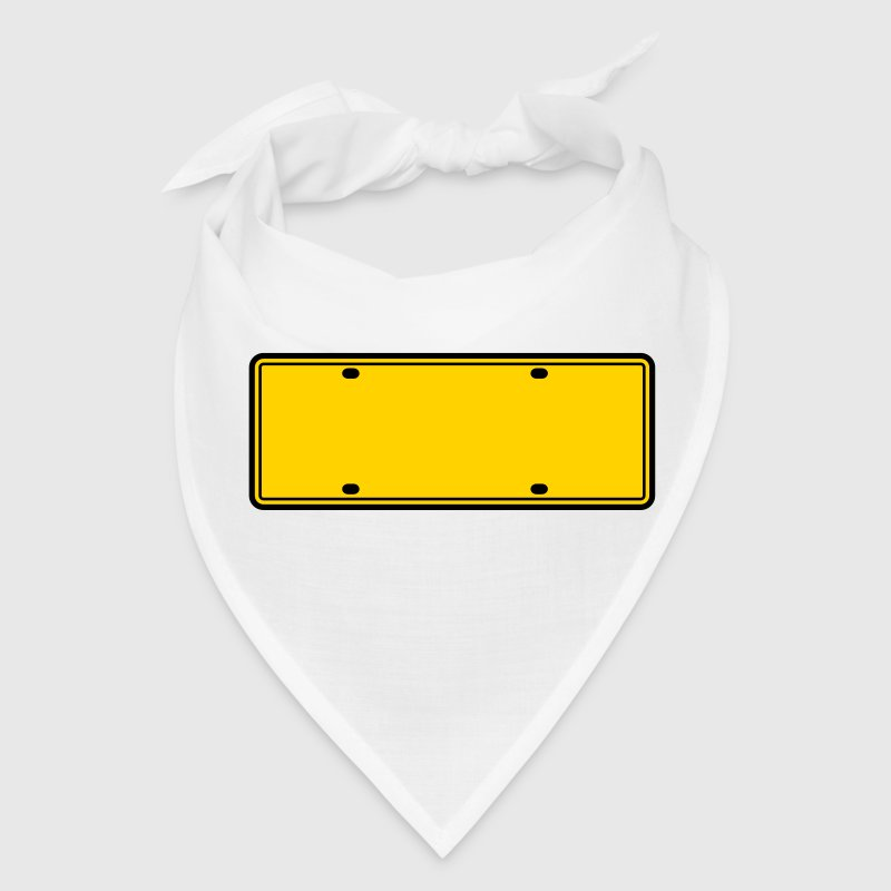 simple 2 color blank licence plate - Bandana