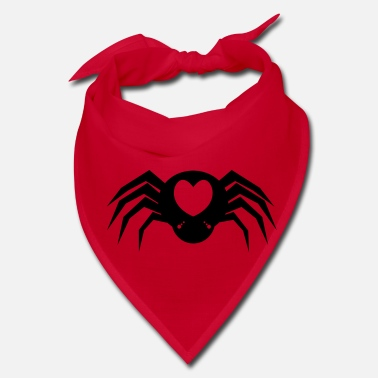 Strange I heart Spiders with many eyes and love hearts - Bandana