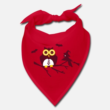 Sit owl and bird sitting on a branch - Bandana