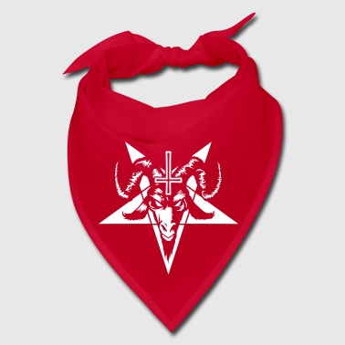 Satanic Goat Head with Pentagram (inverted) - Bandana