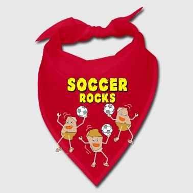 Three Soccer Rocks Light - Bandana