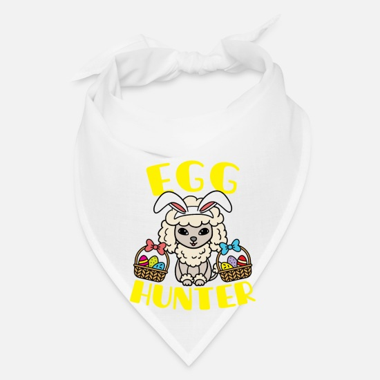 Easter Caps - Poodle Easter - Bandana white