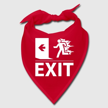 Exit emergency fire exit sign - Bandana