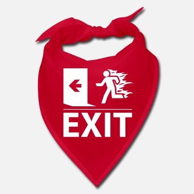 Emergency Exit emergency fire exit sign - Bandana