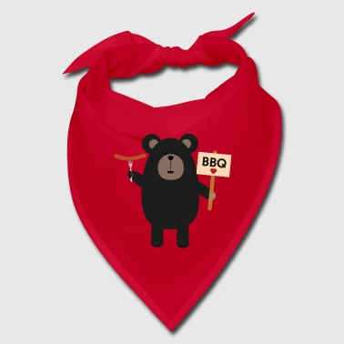 BBQ Black bear with sausage Slx37 - Bandana