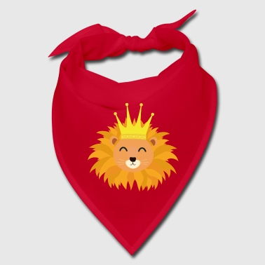 Lion head with crown Sn066 - Bandana