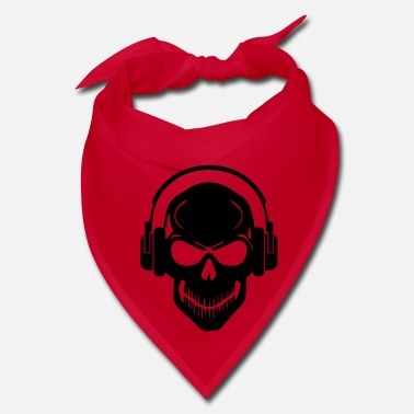 Rave Skull with Headphones - Rave - Electro - Hardstyle - Bandana