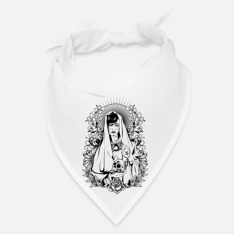 Mexico Caps - Holy Maria - Bandana white