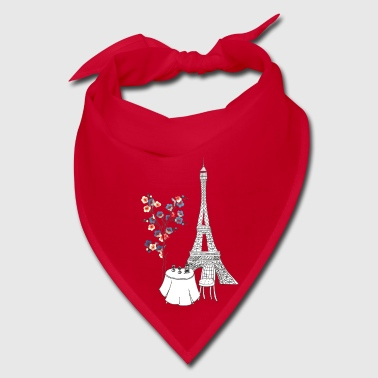 Paris Love Blue Blossom - Bandana